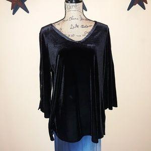 NWT  Susan Graver velveteen tunic. L